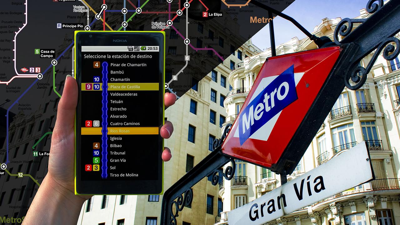 metro madrid nocturno app android