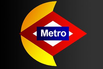 Nighttime Metro Madrid app